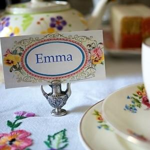 Vintage Tea Party Emma menu