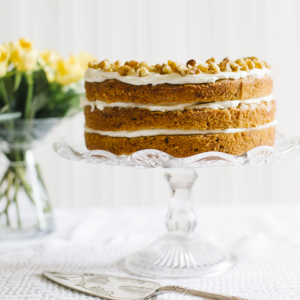 Vintage Tea Party 3 tier coffee and walnut cake