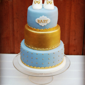 Celebration baby shower three tier cake