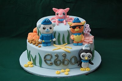 Astounding Explore Rescue Protect An Octonauts Birthday Cake Vanilla Funny Birthday Cards Online Necthendildamsfinfo