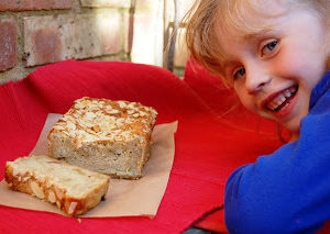 A Rhubarb Loaf and Bill Granger's Lime, Coconut and Macadamia Cake