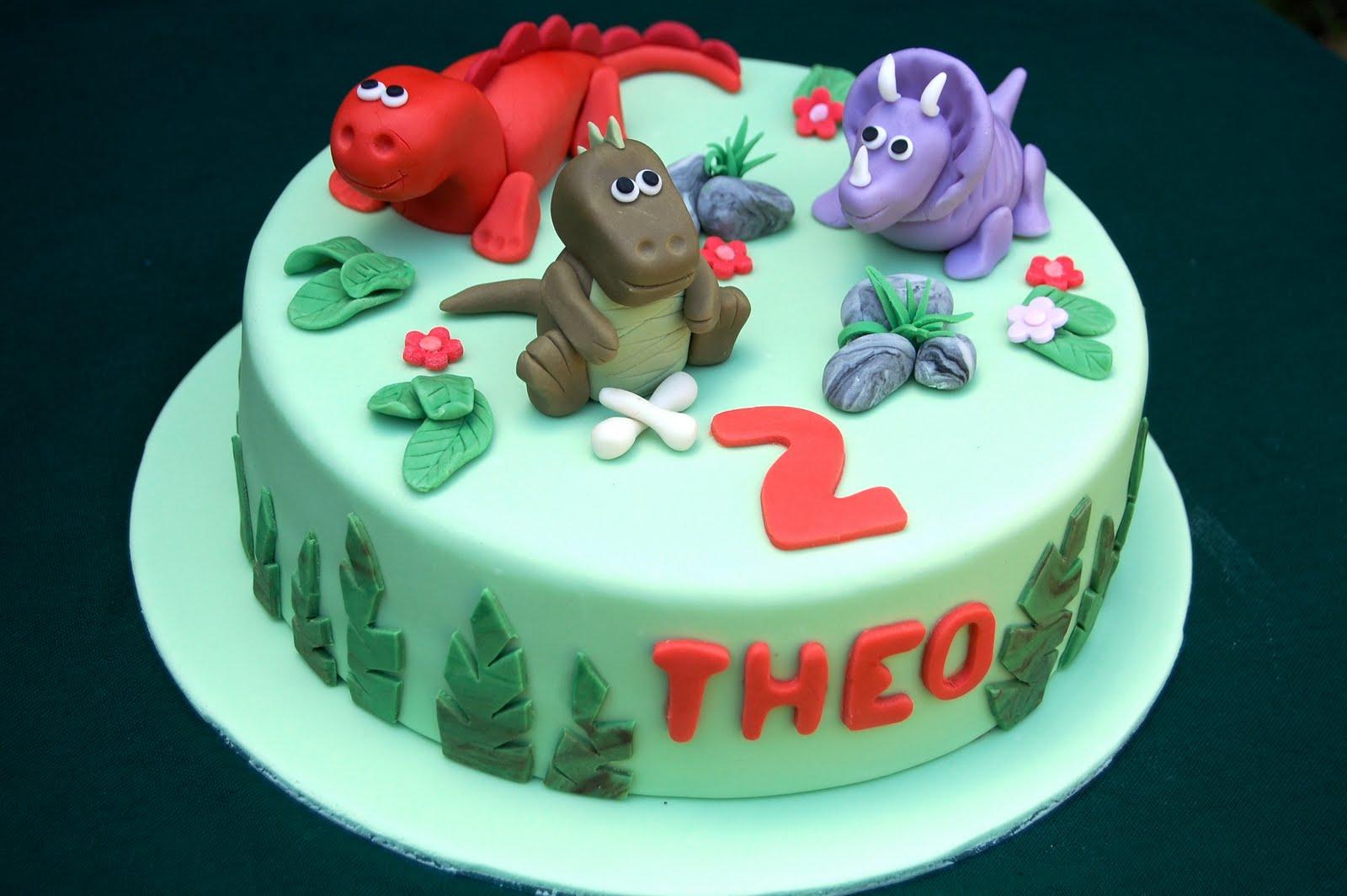 Pleasant Dinosaur Birthday Cake Vanilla Frost Cakes Personalised Birthday Cards Bromeletsinfo