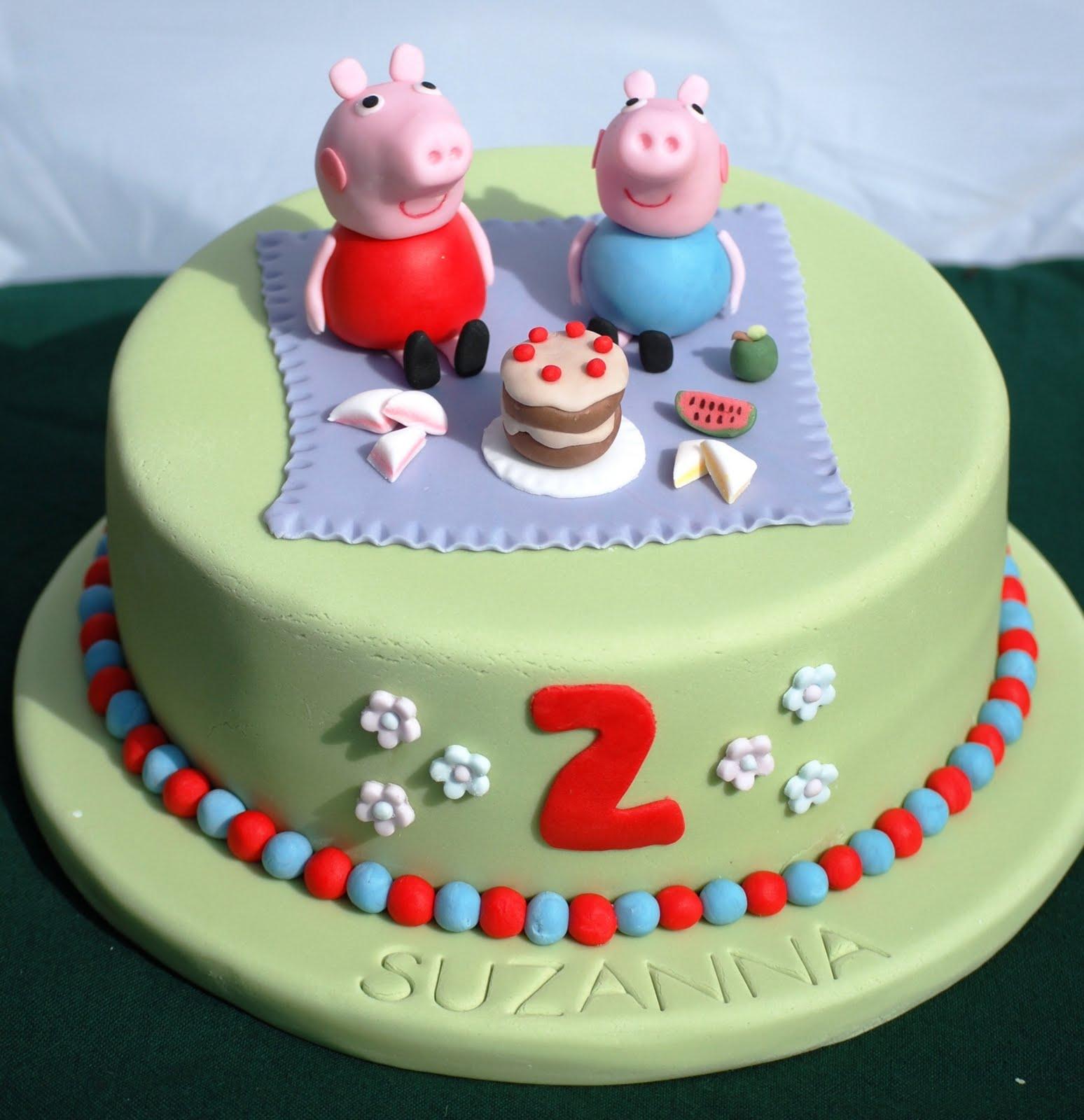 Peppa Pigs Picnic Vanilla Frost Cakes
