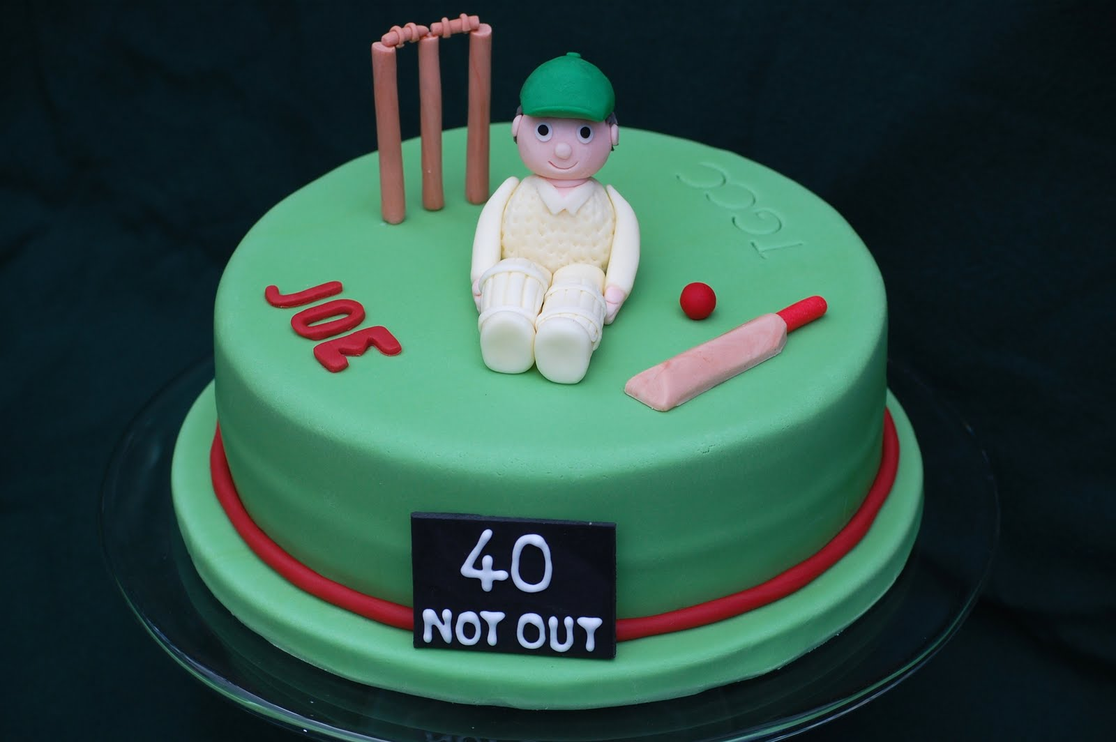 Fabulous A Birthday Cake For The Cricket Season Vanilla Frost Cakes Funny Birthday Cards Online Overcheapnameinfo