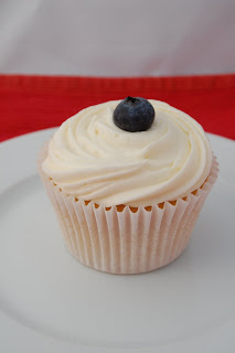 Blueberry Cupcakes for the End of Summer