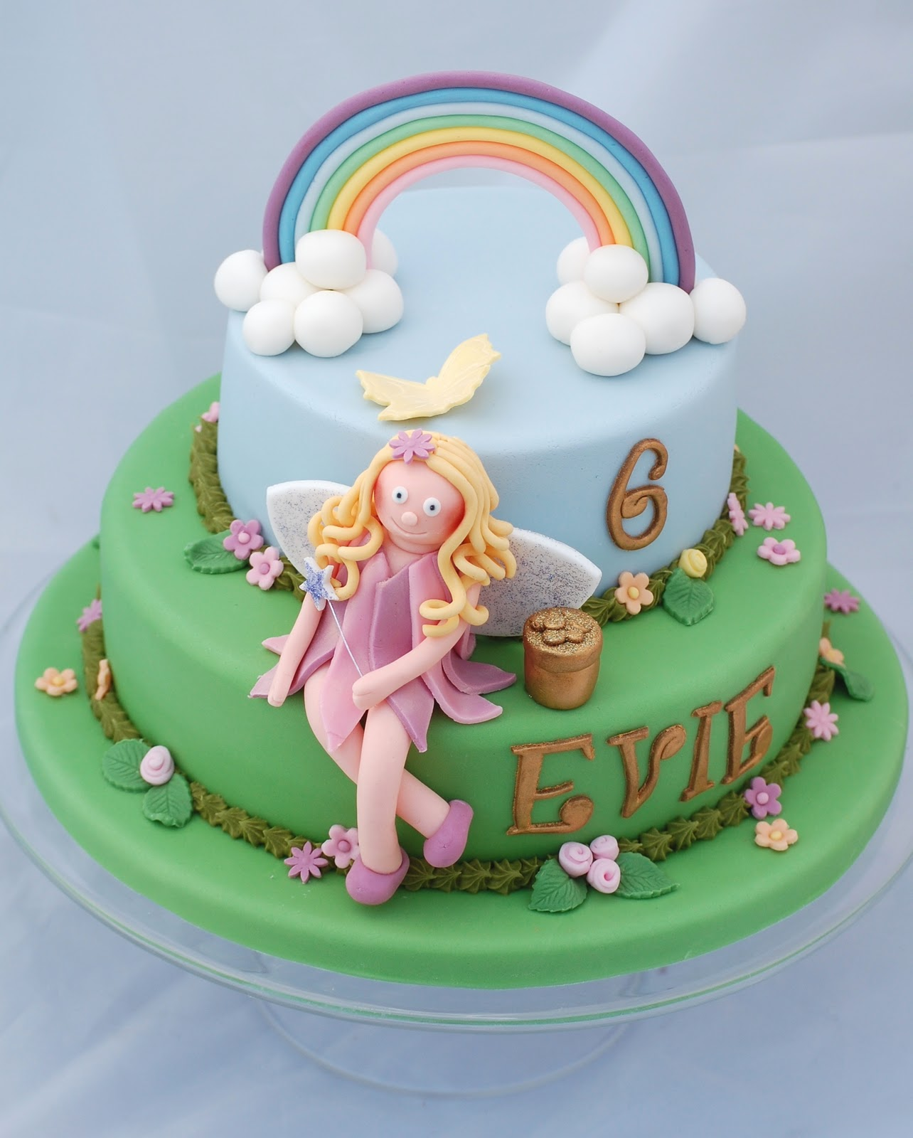 Rainbow Fairy Cake Evies Birthday Part 2