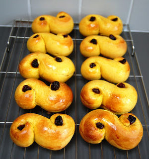 Swedish Saffron Buns for Saint Lucia's Day