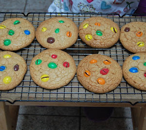Peanut M&M Cookies with the Kids