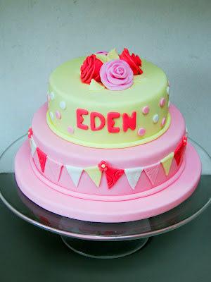 A Bunting Birthday Cake