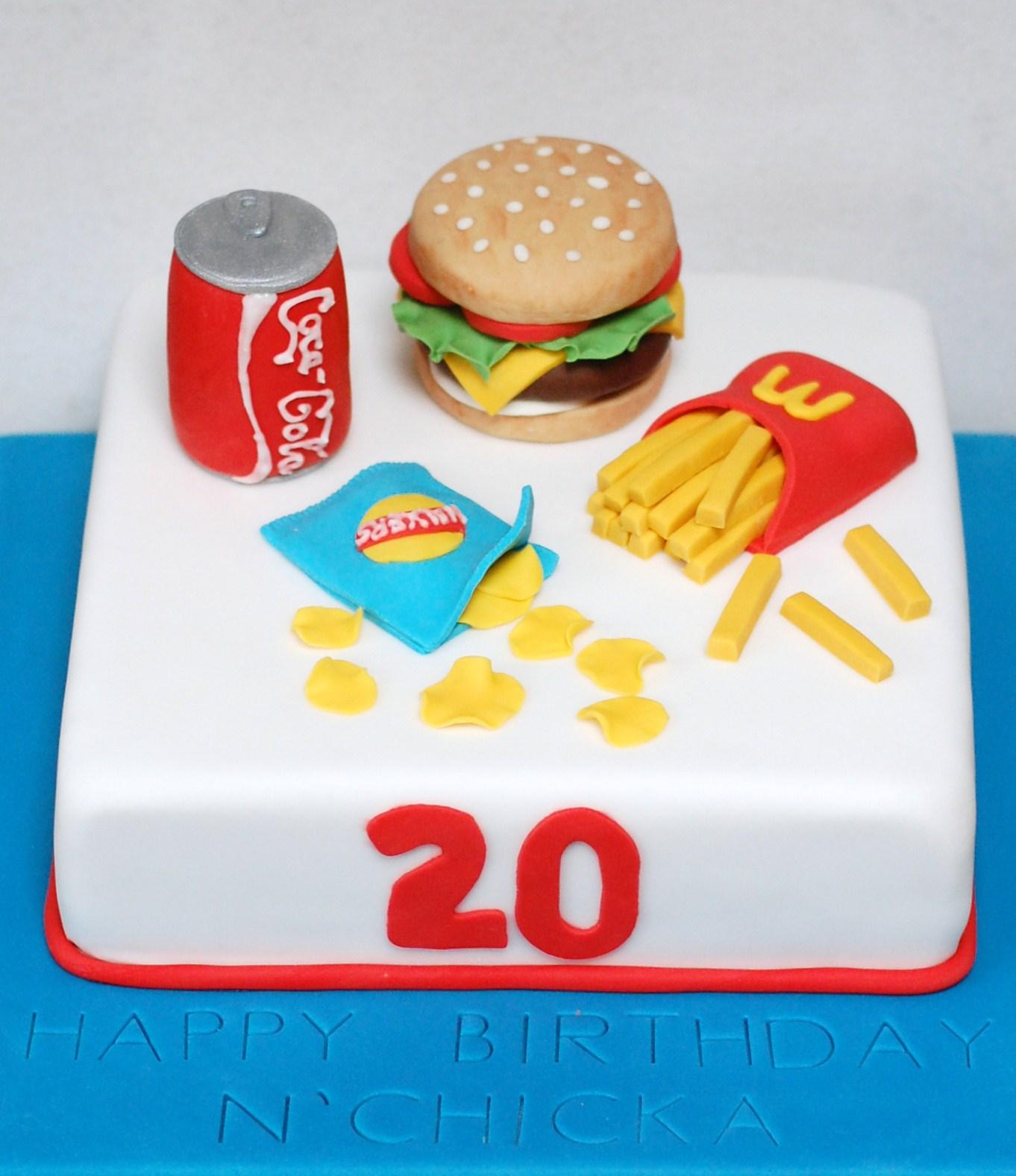 A Junk Food Birthday Cake