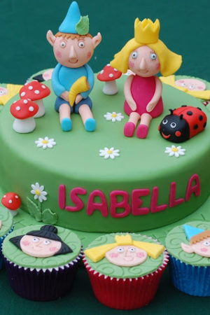 A Ben and Holly Birthday Cake