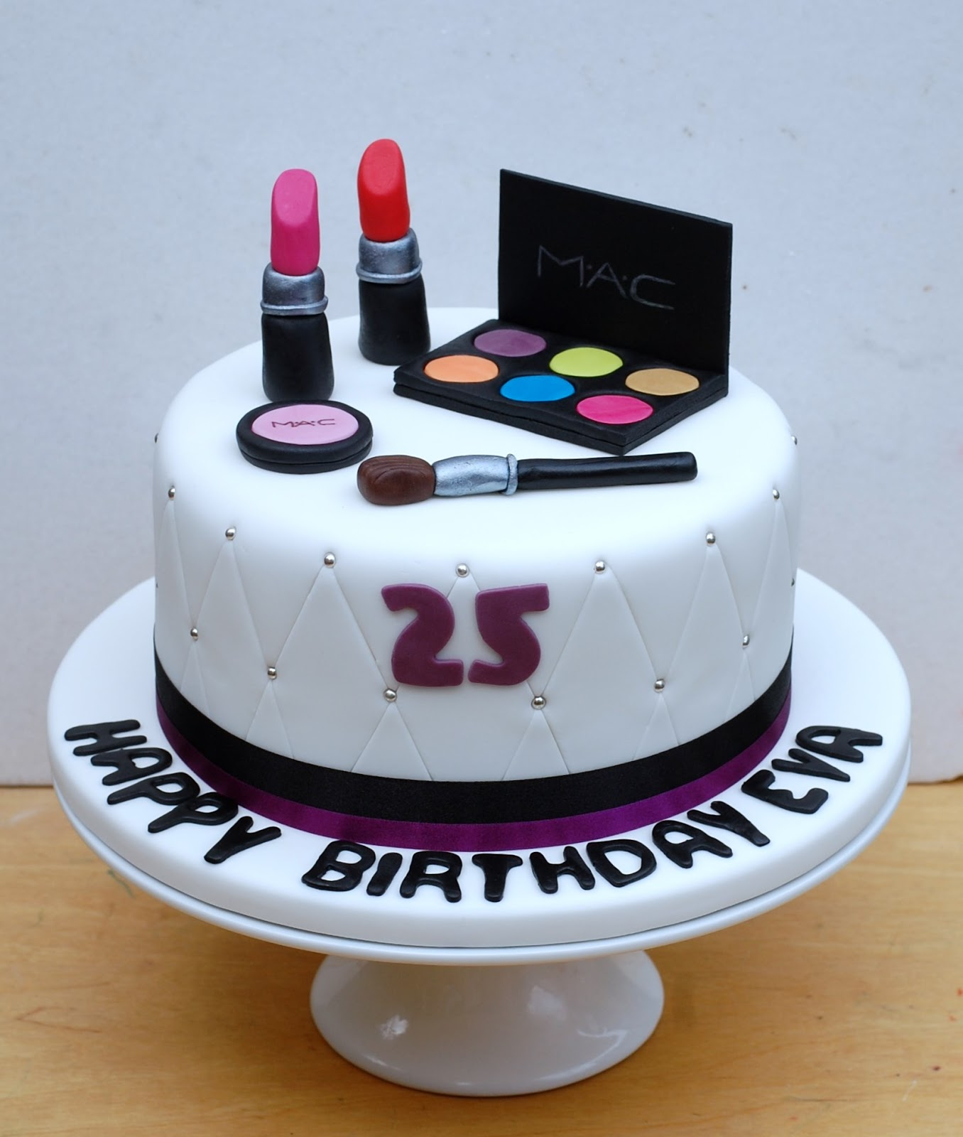 Inspirational Makeup Birthday Cake Birthdaymakeup themed Birthday