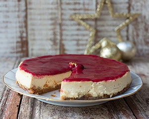 Christmas Cheesecake with Ginger and Cranberry