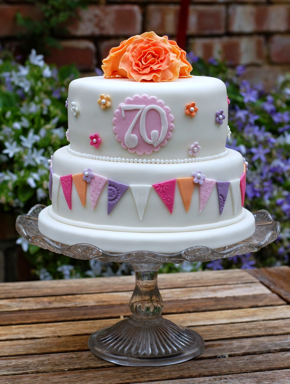 Pretty 70th Birthday Cakes Vanilla Frost Cakes