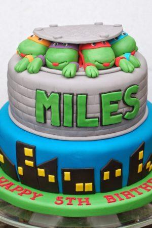 A kids' birthday cake catch up