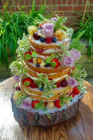 A Naked Cake for a Sunny Ealing Wedding