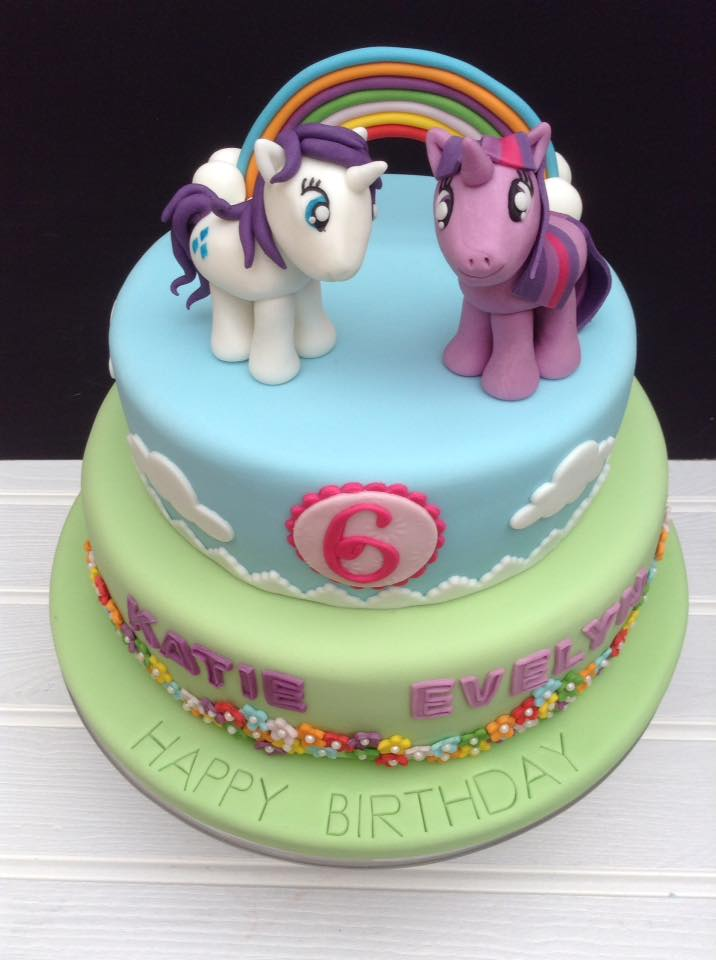 My Little Pony Cake for six year old girl's birthday