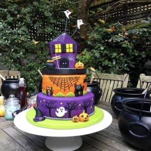 Celebration 3 tiered halloween cake
