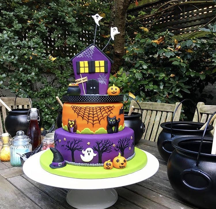 Celebration 3 tiered halloween cake