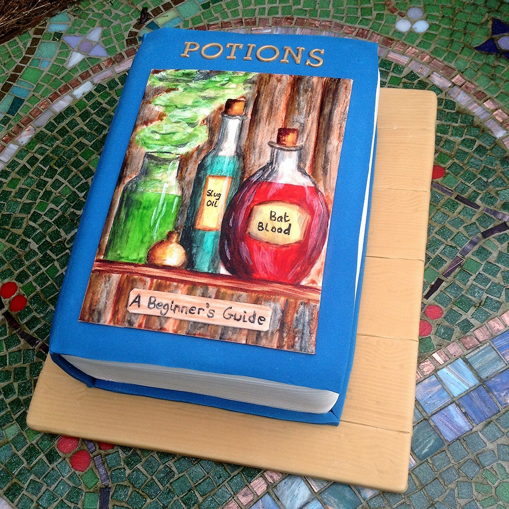 Potions Book Celebration cake