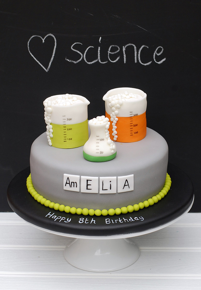 Celebration science iced cake