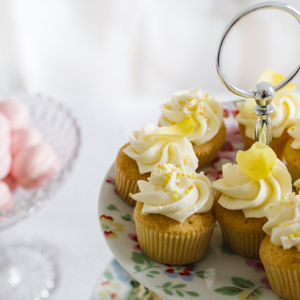 Vintage Tea Party iced cupcakes