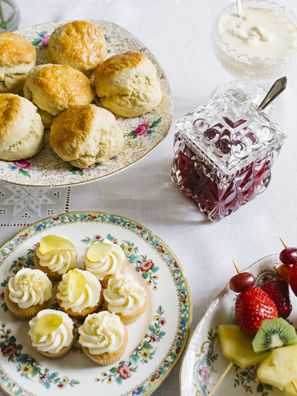 Vintage Tea Party scones with jam